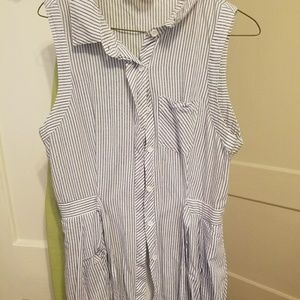 Button up dress with pockets